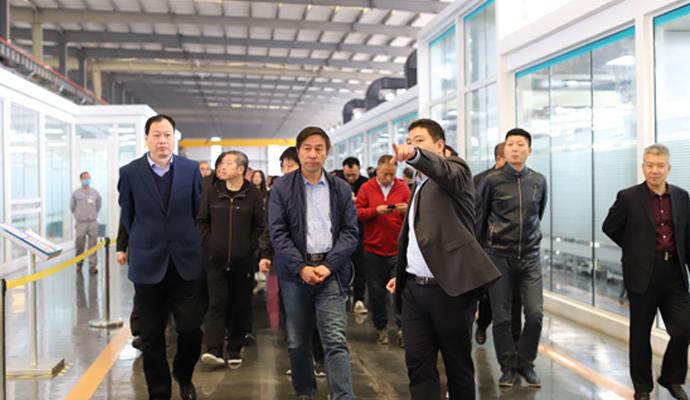 晋城市工商联主席程刚强莅临兰迪机器参观考察
